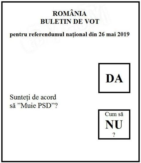 Întrebarea pentru referendumul din 26 mai