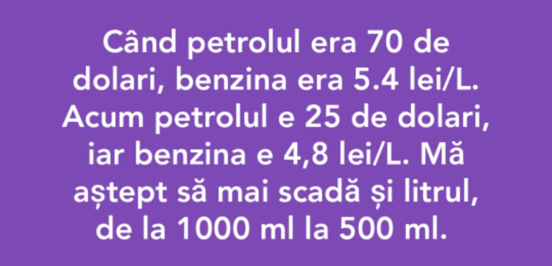veniți de luați #benzină