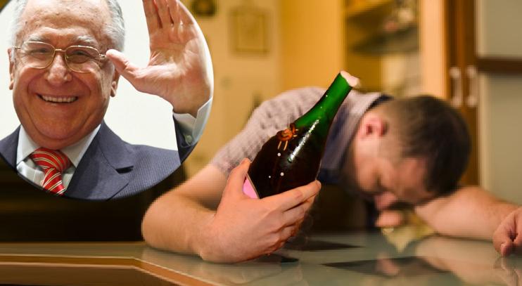 Un bucureştean a devenit dependent de alcool din cauza şampaniilor desfăcute la fiecare internare a lui Iliescu!