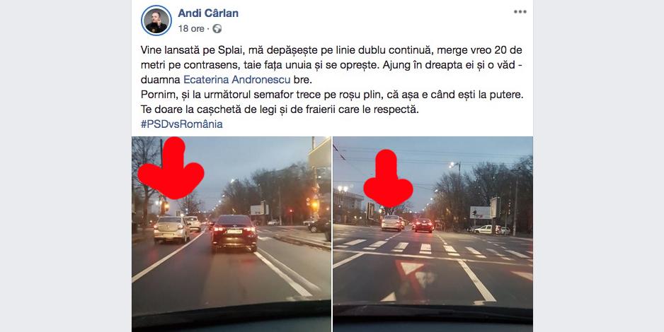 Ecaterina Andronescudepășește pe linia continuă și trece pe roșu. Pentru PSD-iști nu mai există legi, reguli, nimic