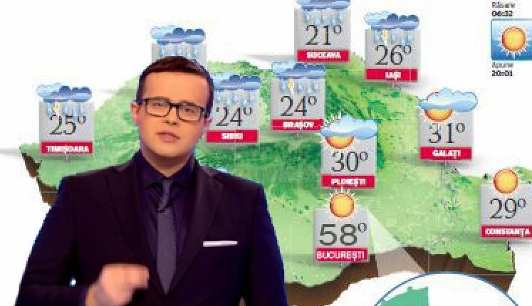 """Antena3: """"58 de grade pe 10 August în București! Nu ieșiți din casă!"""""""