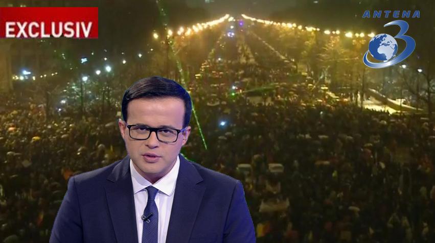 """Antena3: """"70.000 de oameni au sărbătorit în stradă desemnarea Vioricăi Dăncilă!"""""""