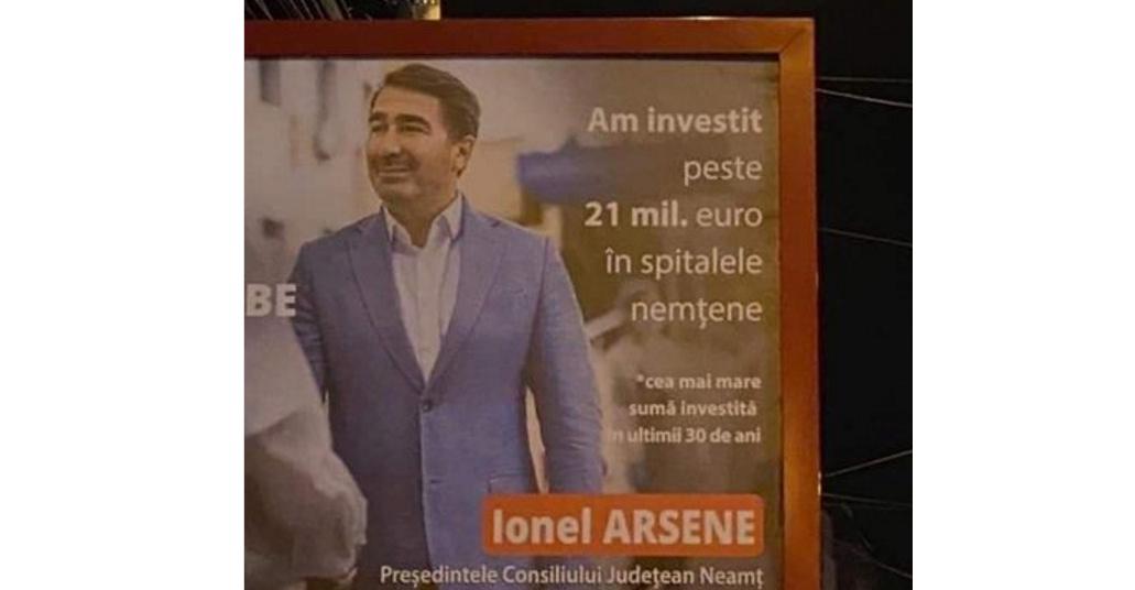 Baronul Ionel Arsene de la Neamț se laudă că a investit 21 de milioane de euro în spitale. În secția care a ars nu exista sistem de stingere a incendiilor!