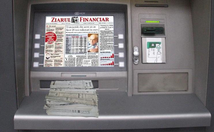 Un bancomat din sectorul 5 dă tăieturi din ziare în loc de bani!