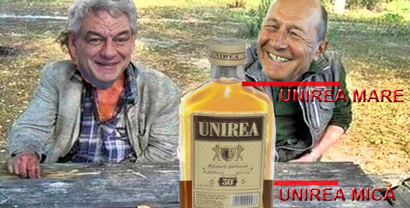Băse şi Tudose sărbătoresc Unirea Mică, pentru că le-a mai rămas un pic de Unire de la aia Mare!