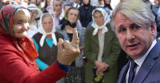 Miting la Guvern: zeci de bătrânele cer legalizarea leușteanului!