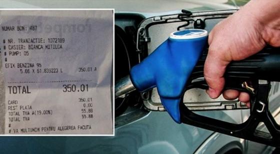 Miracol la o benzinărie:un român a reuşit să bage 62 de litri de benzină într-un rezervor de Sandero de 50 de litri!