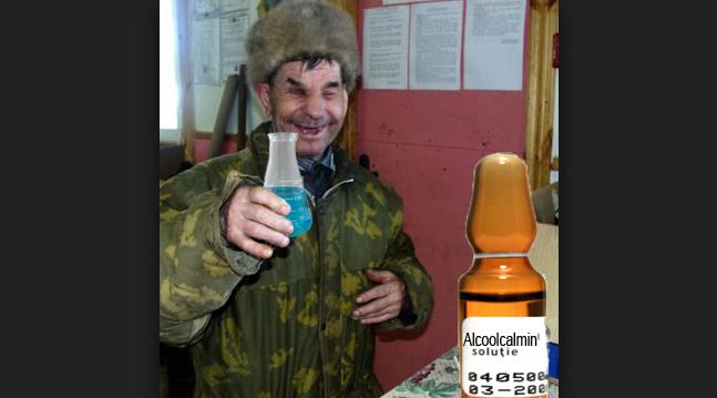 În Moldova chiar a apărut Alcoolcalmin, medicamentul care vindecă de orice