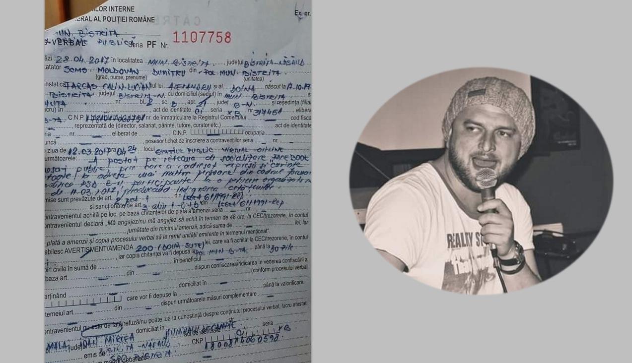 A început! Un bistrițean a fost amendat cu 200 de lei pentru că a atacat PSD-ul pe Facebook