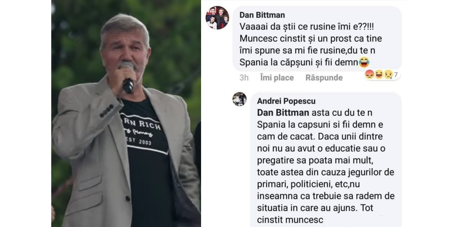Dan Bittman crede că e rușinos să muncești în străinătate. Nu, băi, rușinos e să pupi PSD-ul în cur!
