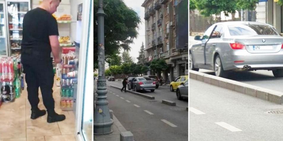 Un bombardier şi-a lăsat BMW-ul în mijlocul Căii Victoriei şi s-a dus să-şi ia cafea. Să vină antiaeriana!