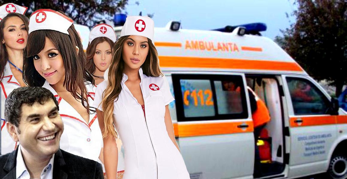 Borcea a sunat la 112 să-i trimită o ambulanță plină cu asistente că se simte rău de la sarmale!