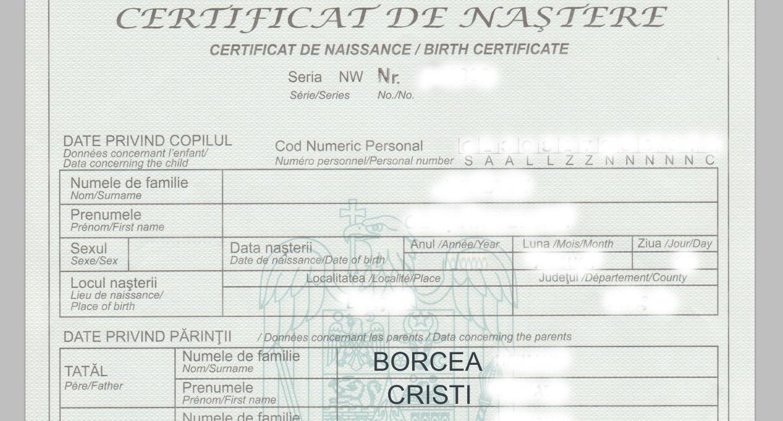"""Se schimbă şi certificatele de naştere: la numele tatălui, va scrie """"Cristi Borcea"""" din oficiu!"""