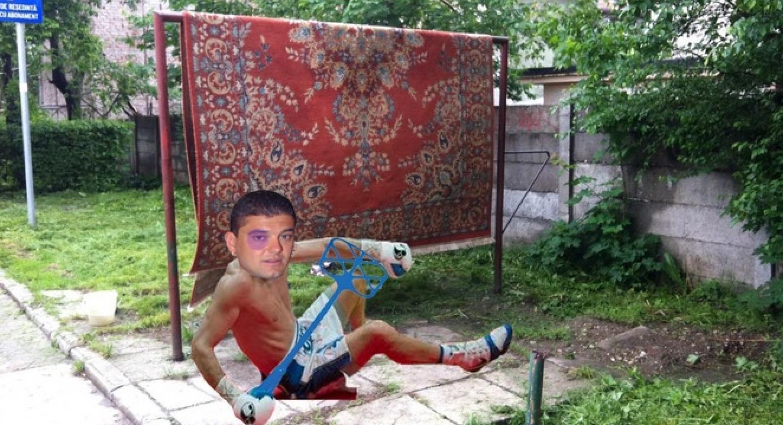 Imagini de arhivă: Boureanu bătut de covor!