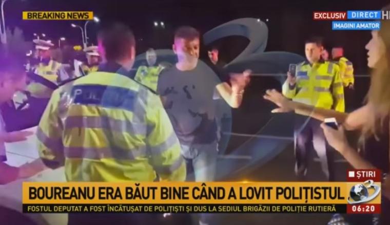 Măsuri drastice după ce Boureanu a agresat 8 papă-lapte: polițiștii vor fi păziți de bodyguarzi