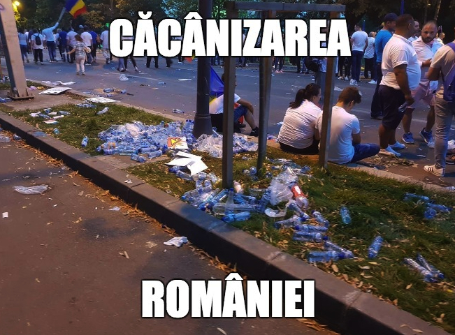 Căcânizarea României