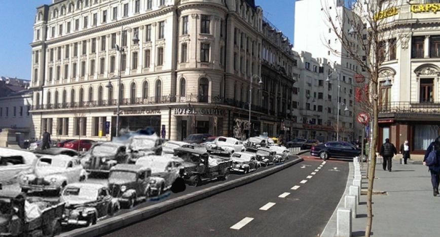 Pe Calea Victoriei a fost descoperită o coloană de mașini blocată în trafic din Al Doilea Război Mondial!