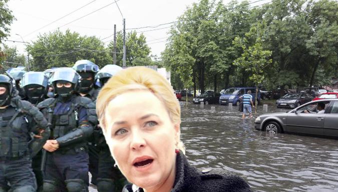 Carmen Dan a trimis jandarmii să bată apele că au ieșit în stradă fără autorizație!