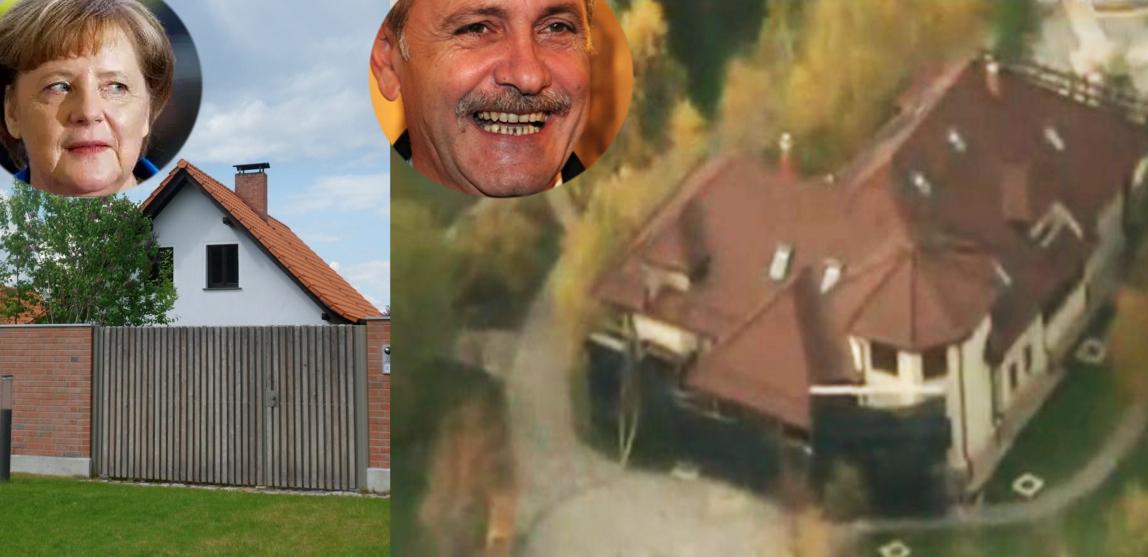 Casa lu' Merkel și casa lui Dragnea. Ziceți voi cine e mai harnic!