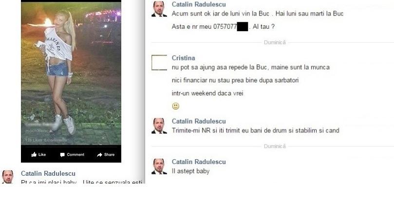 Cum agață deputatul Cătălin Rădulescu pe Facebook cu bani.Deși ar putea și cu mitraliera