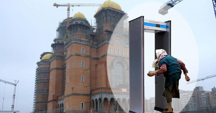 La ușa bisericilor va fi instalat câte un detector de metale, ca să nu se mai intre cu mărunțiș!
