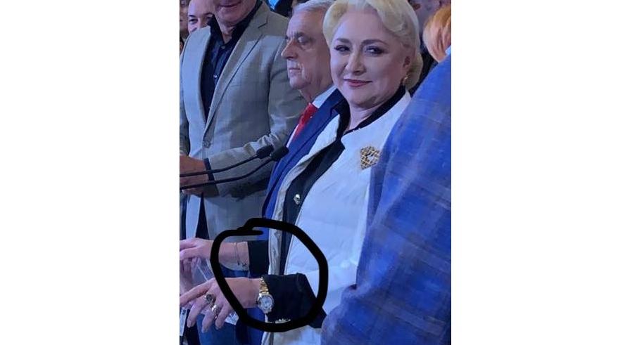 """Viorica Dăncilă a returnat ceasul: """"E defect! Mie îmi zice că e 10 jumate şi tot restul lumii zice că e 20.000 de euro!"""""""