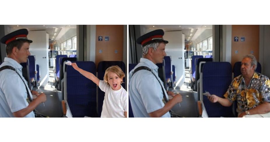 Un sexagenar a călătorit cu trenul de la Arad la Bucureşti cu un bilet la jumătate din preț,la plecare fiind copil!