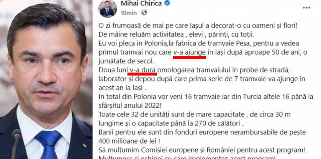 Și Mihai Chirica e agramat, dar ca fost PSD-ist, nu ca actual PNL-ist!