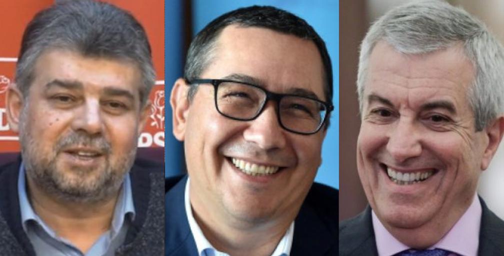 """Ciolacu, Ponta şi Tăriceanuau pus bazele alianței electorale """"Tusea,Junghiul şi cu Pârțul""""!"""