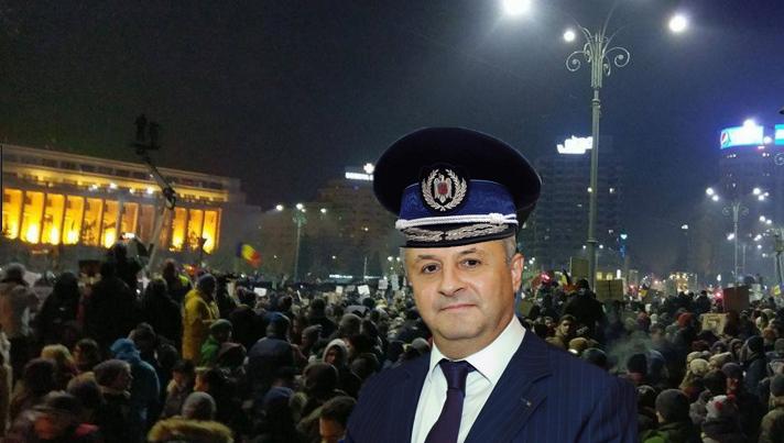 """Ciordache e și el la protest: """"M-a trimis domnul Dragnea să dau amenzi"""""""