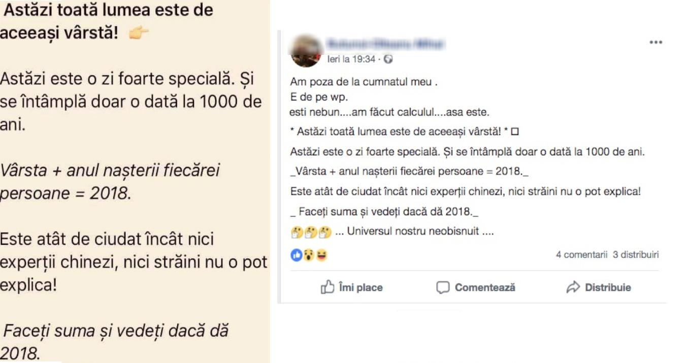 Zeci de mii de români s-au mirat ieri că vârsta lor+anul nașterii = 2018. De aia iese PSD-ul mereu!