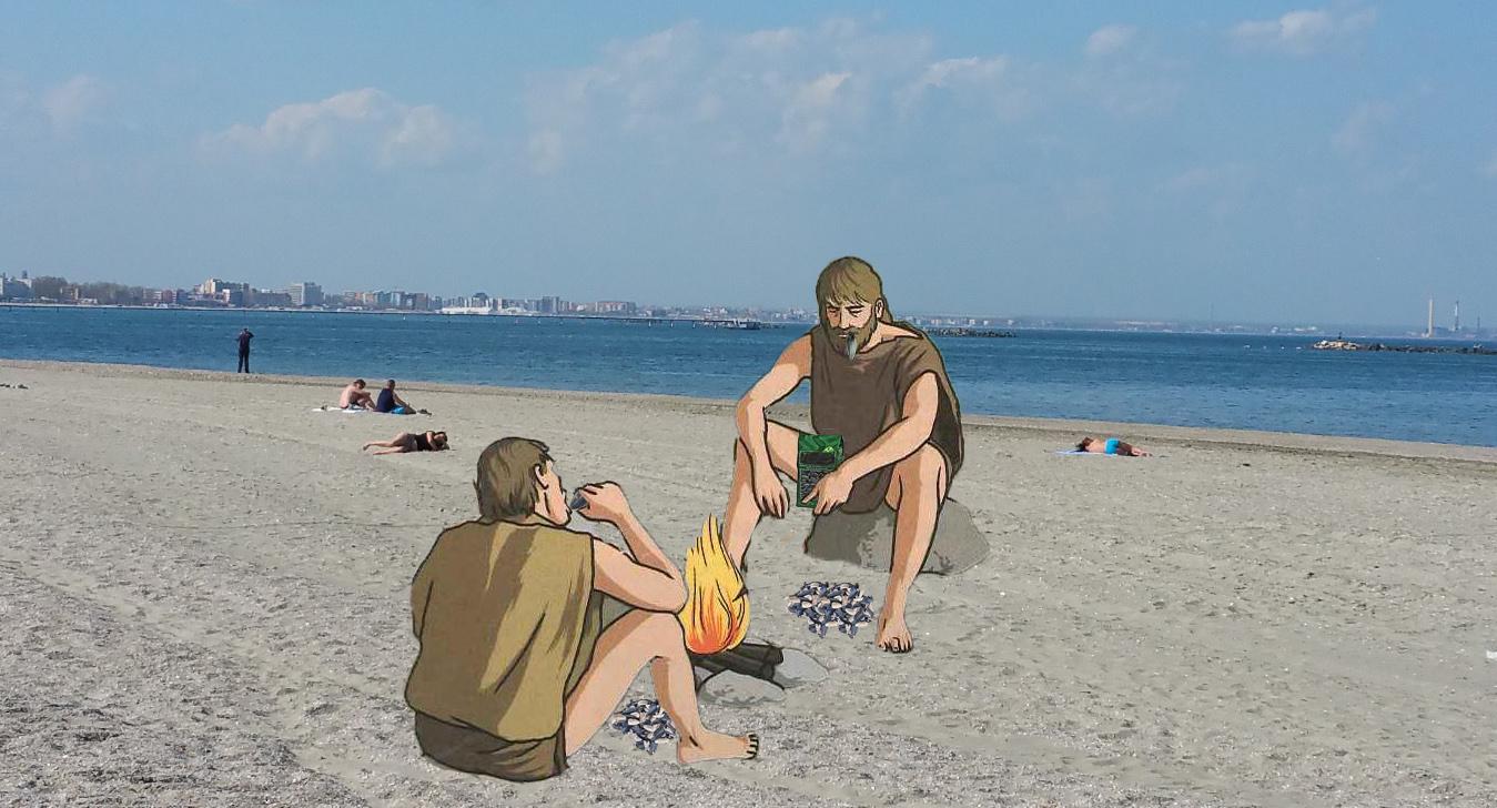 Pe plaja din Mamaia au fost descoperite coji de semințe din Paleolitic!