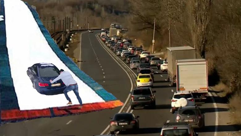 La Nistoreşti s-a amenajat o pârtie pentru cei pe care îi va prinde Revelionul în trafic!