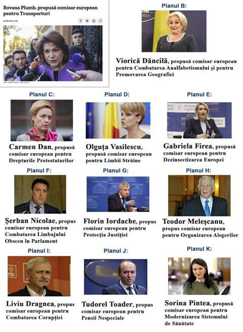 Comisarii României pentru UE - echipa completă
