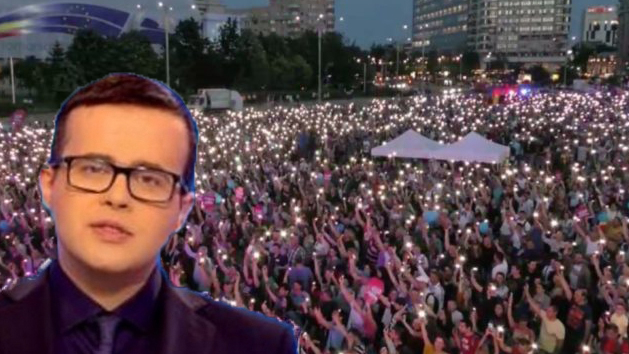 """Antena3: """"Zeci de mii de români au cântat în Piața Victoriei pentru eliberarea lui Mazăre!"""""""