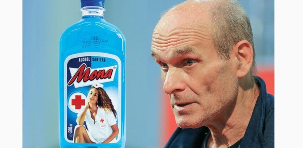 CTP, supărat pe eticheta spirtului Mona: Cum să pui pe o sticlă de spirt o asistentă cu mâna la…?