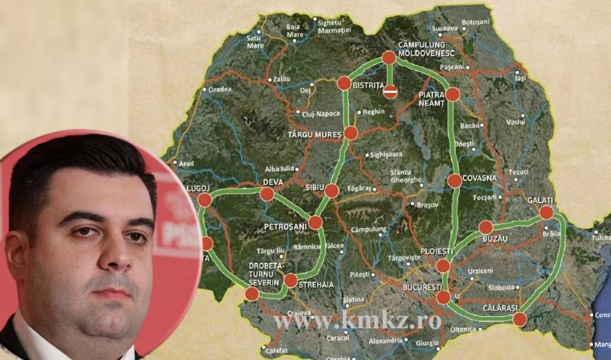 Ministrul Cuc prezintă harta celor 100 de kilometri de autostradă inaugurați anul ăsta!