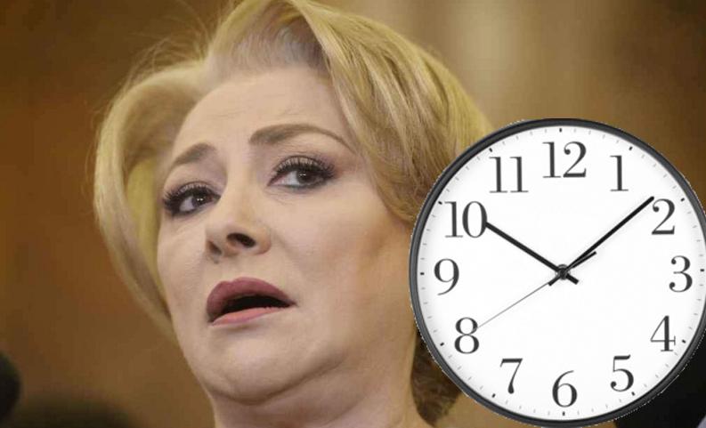 Viorica crede că protestul #șîeue păcăleală: nu există ora 15. Are și ea ceas și sunt numai 12 ore!