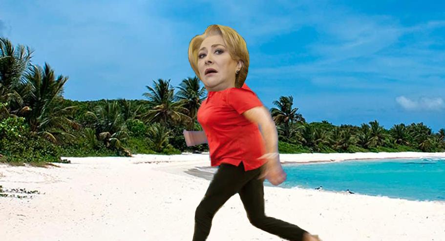 Viorica Dăncilă a fugit în Costa Rica de frică că începe școala!
