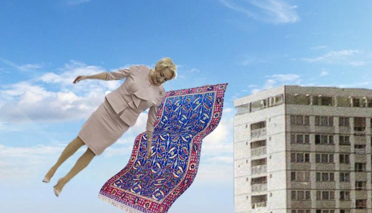 """Veorica a primit de la arabi un covor fermecat: """"Mi-au spus cădacămăarunc cu el de la etaj, voi zbura!"""""""