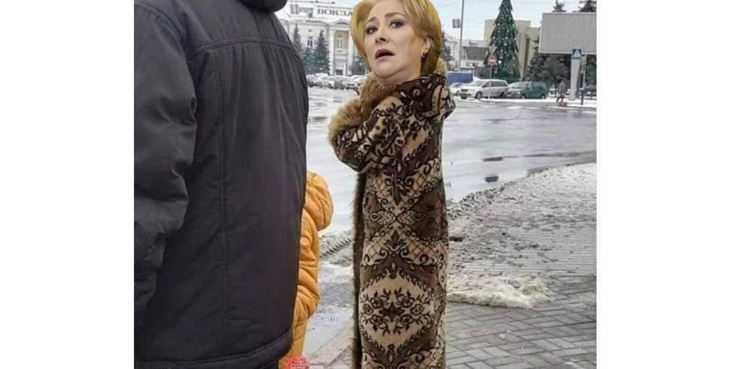 E atât de frig că Viorica a trecut de la draperie la covor!