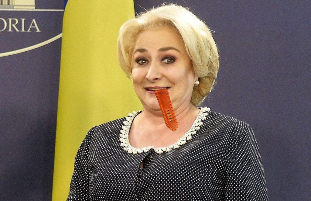 Veorica Dăncilă şi-a mâncat ceasul ca să-i miroasă gura a tic-tac!
