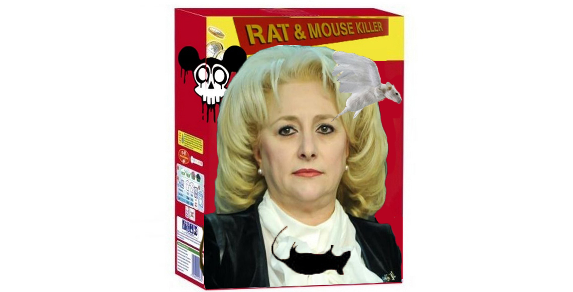 Distinsa doamnă Viorica Dăncilă a devenit imaginea oficială a unei cunoscute mărci de otravă pentrușoareci!