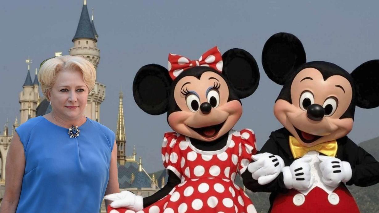 Alertă: Viorica s-a întâlnit la Paris cu Mickeyși Minnie Mouseși i-a convins să vină în România!