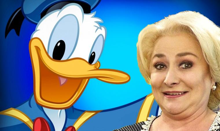 Veorica a fost primită de preşedintele Statelor Unite ale Americii, domnul Donald Duck!