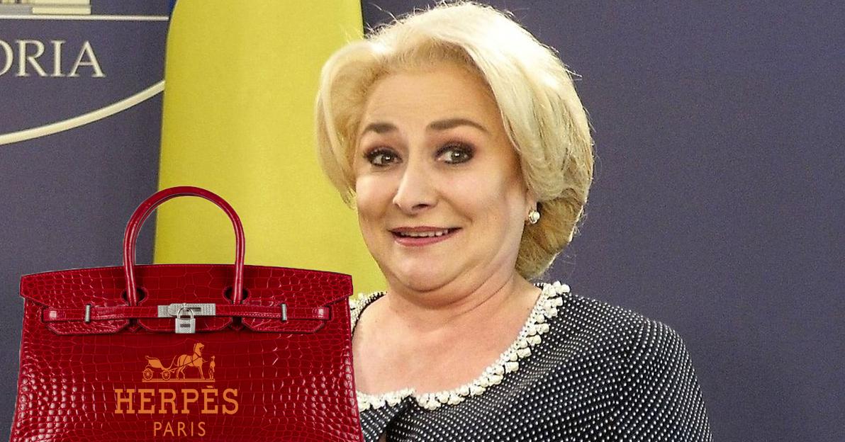 Veorica Dăncilă și-a luat geantă Herpes!