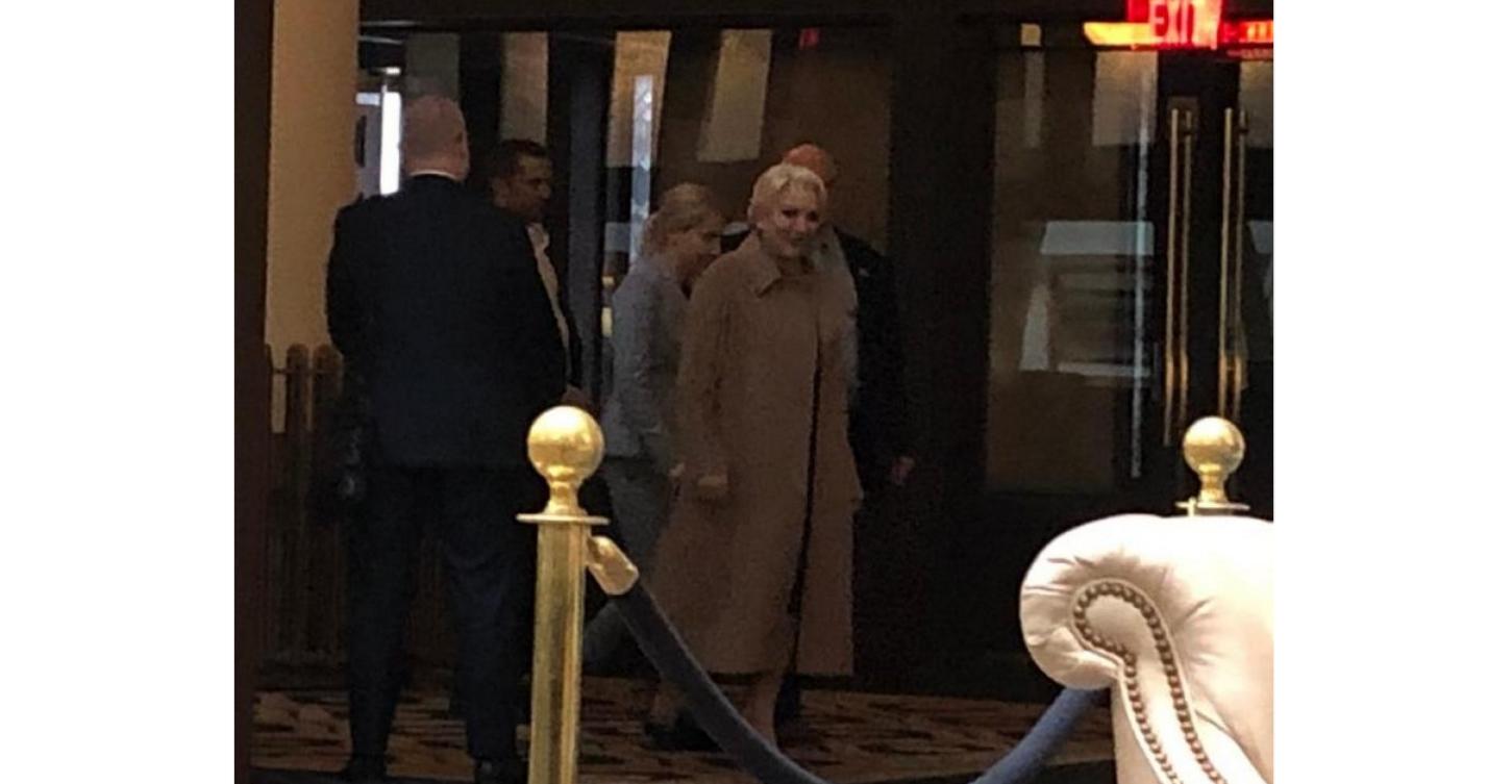 Veorica la hotelul lui Donald Trump, încercând să fure draperia în loc de prosop!