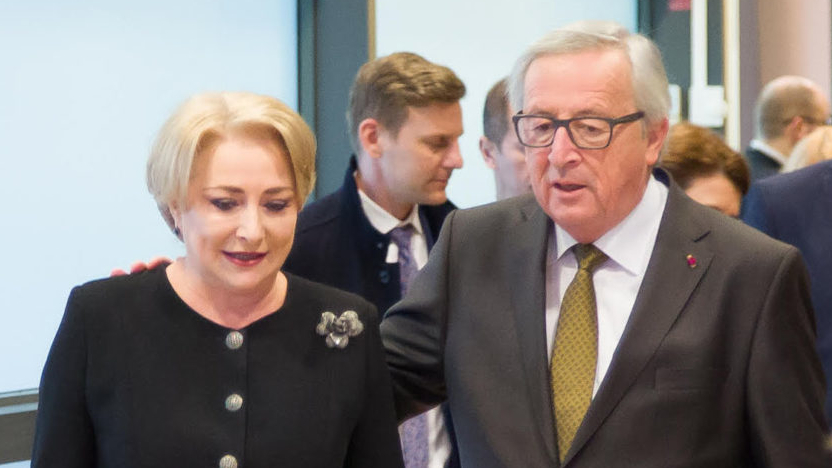 Prima sarcină importantă a Vioricăi la președinția Consiliului UE: a trimis-o Juncker după țigări!