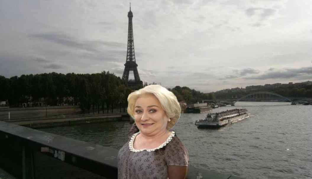 """Viorica: """"Vă salut din Londra! Ăla din spate e Turnul din Pizza!"""""""