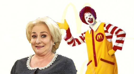 """Veorica: """"M-am întâlnit la restaurant cu preşedintele SUA, domnul McDonald"""""""